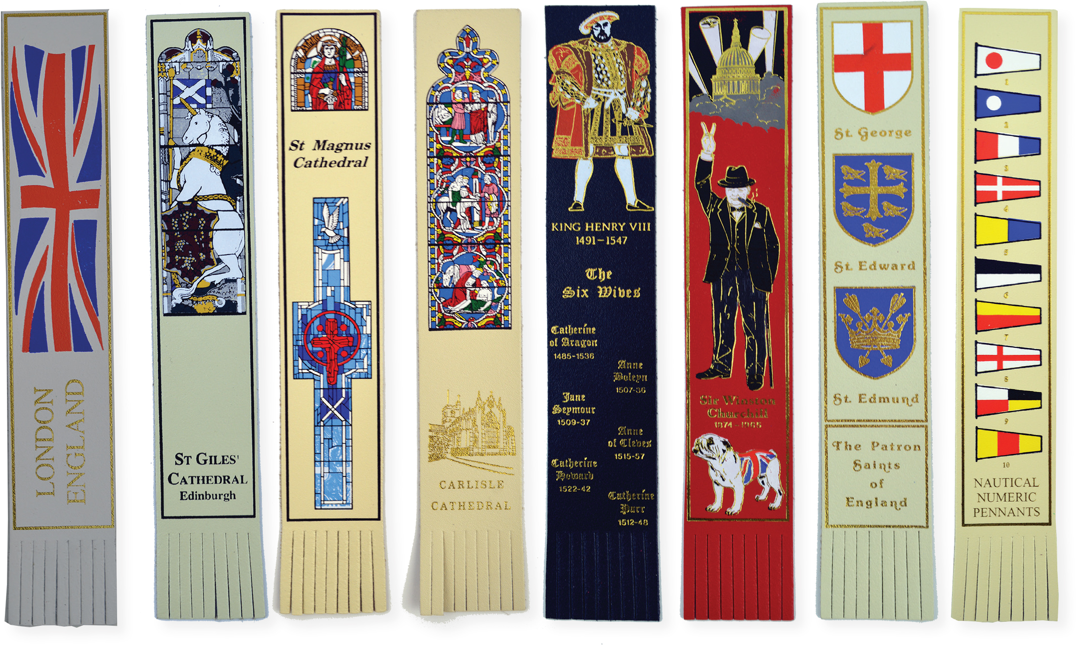 multi colour foil blocked bookmarks